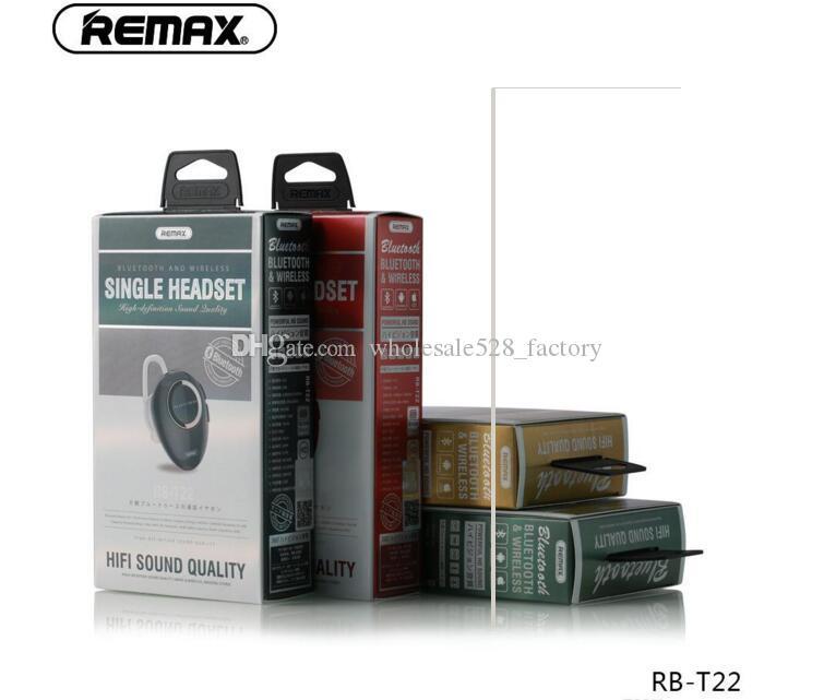 원래 Remax의 RB-T22 Remax의 T22 미니 무선 블루투스 이어폰 V4.2 자동차 헤드셋과 마이크를 들어 스마트 폰