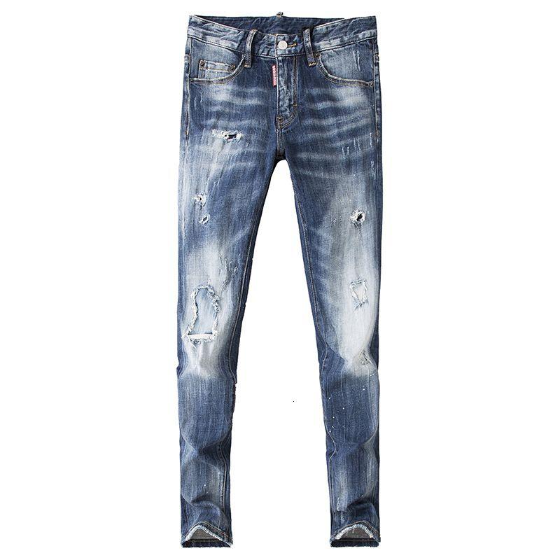 Wear desgaste dos homens dos homens desgaste dos homens de Moda de Nova E Original Designe Jeans requintados Calças retas Kew777