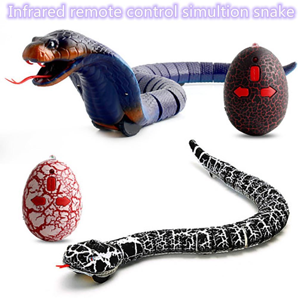 RC инфракрасный пульт дистанционного управления змея и яйцо гремучая змея животное трюк ужасающий озорство игрушки для детей забавный новинка подарок Y200317