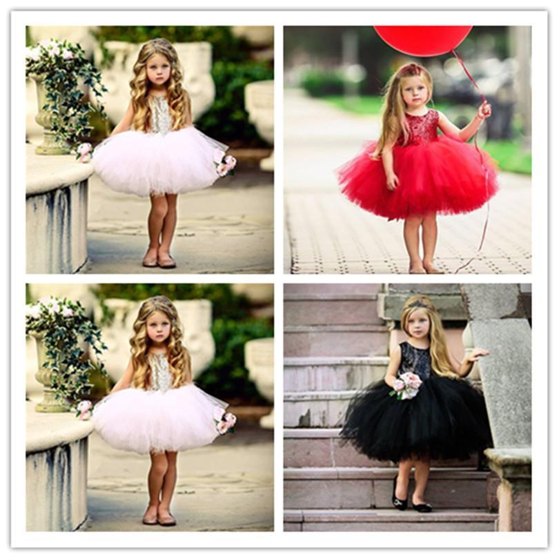 Ins балет Baby Girl Блестки принцесса платье девушка Тута марлевые платья Дети Backless Bowknot лето платье партия мини-юбка для свадебных E22705