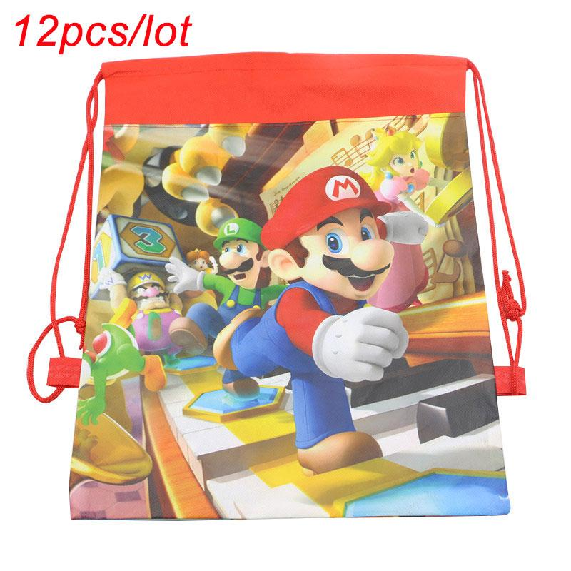 PERSONALISED MARIO AND LUIGI DRAWSTRING BAG