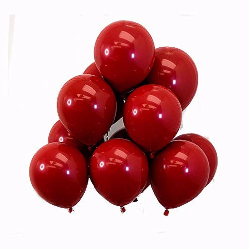 سوبر كبير كبير الأحمر بالون 100PC حفل عيد ميلاد الديكور الخيال تاريخ الميلاد مشاهدة بالون متعدد الألوان مطاط العملاق