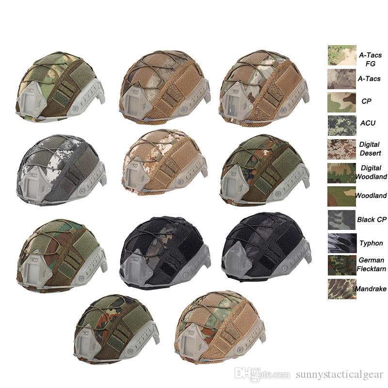 TACTICAL SERIE AIRSOFT PAINTBALL GEAR COMBAT FAST MILITARY HELMET COVER-COLORFUL