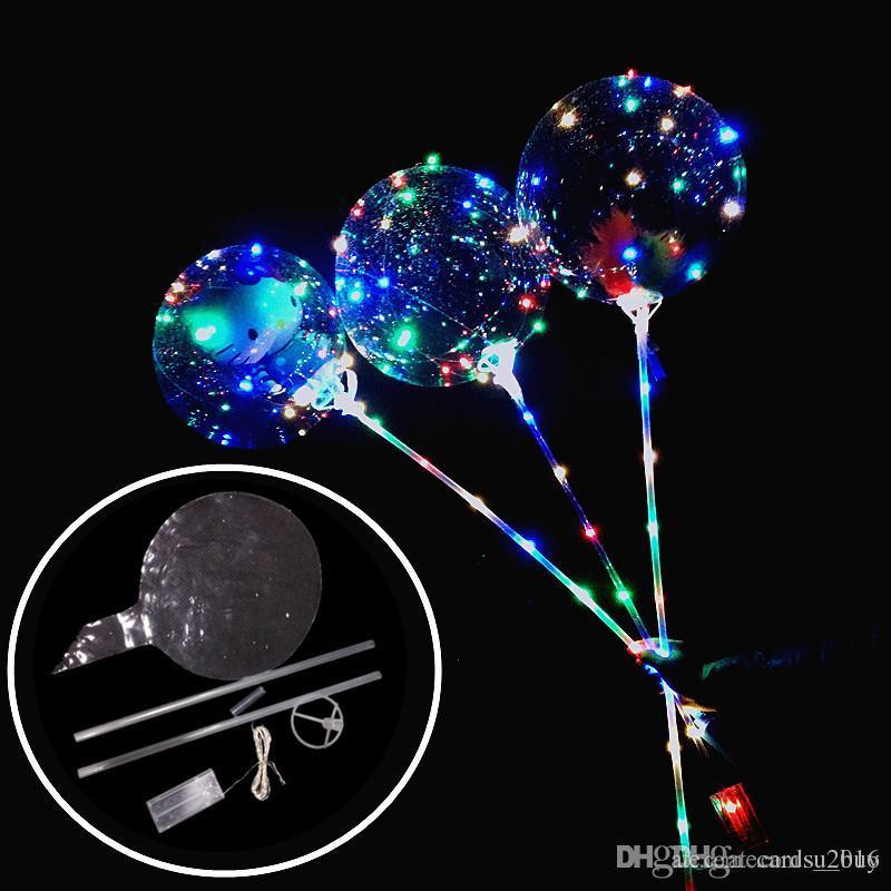 Neue Leuchtende LED Ballons Mit Stick Riesen Helle Ballon Beleuchtet Ballon Kinder Spielzeug Geburtstag Party Hochzeit Dekorationen