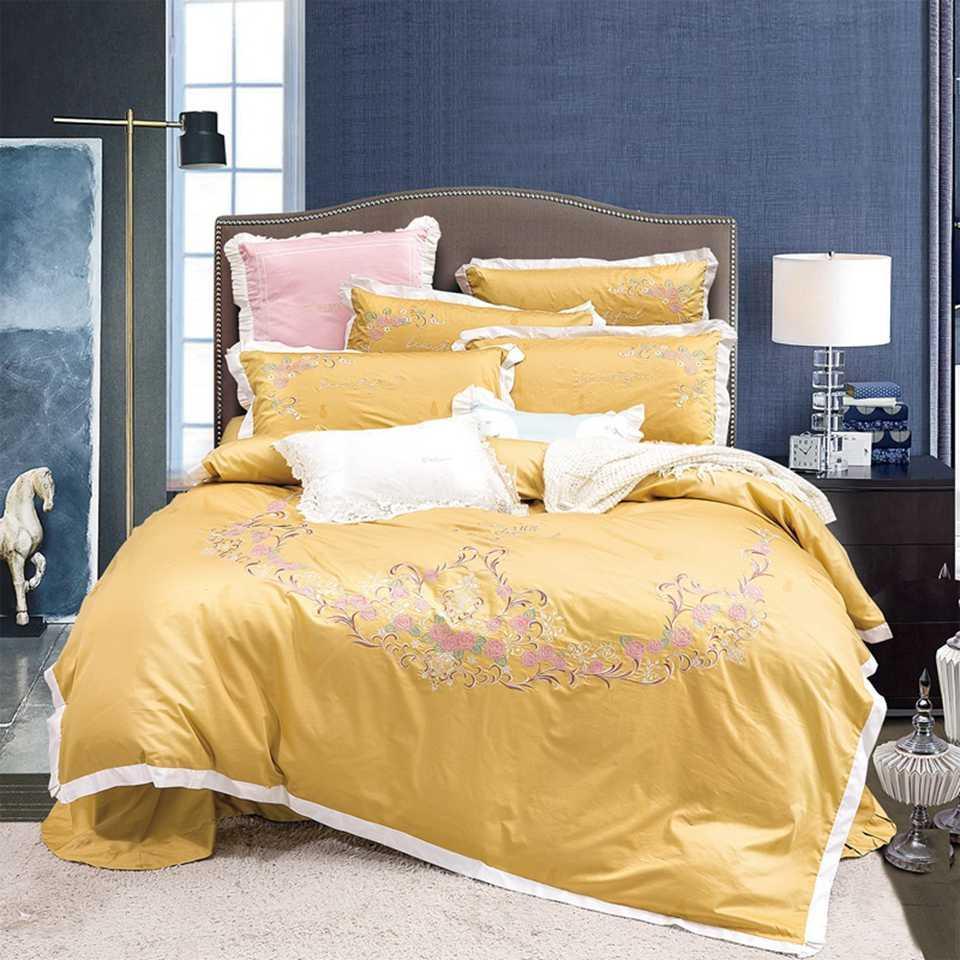 Ropa de cama de lujo diseñadores Establece King o Queen Size Juegos de cama ropa de cama 4pcs edredón edredones de cama de lujo series de calentamiento 22