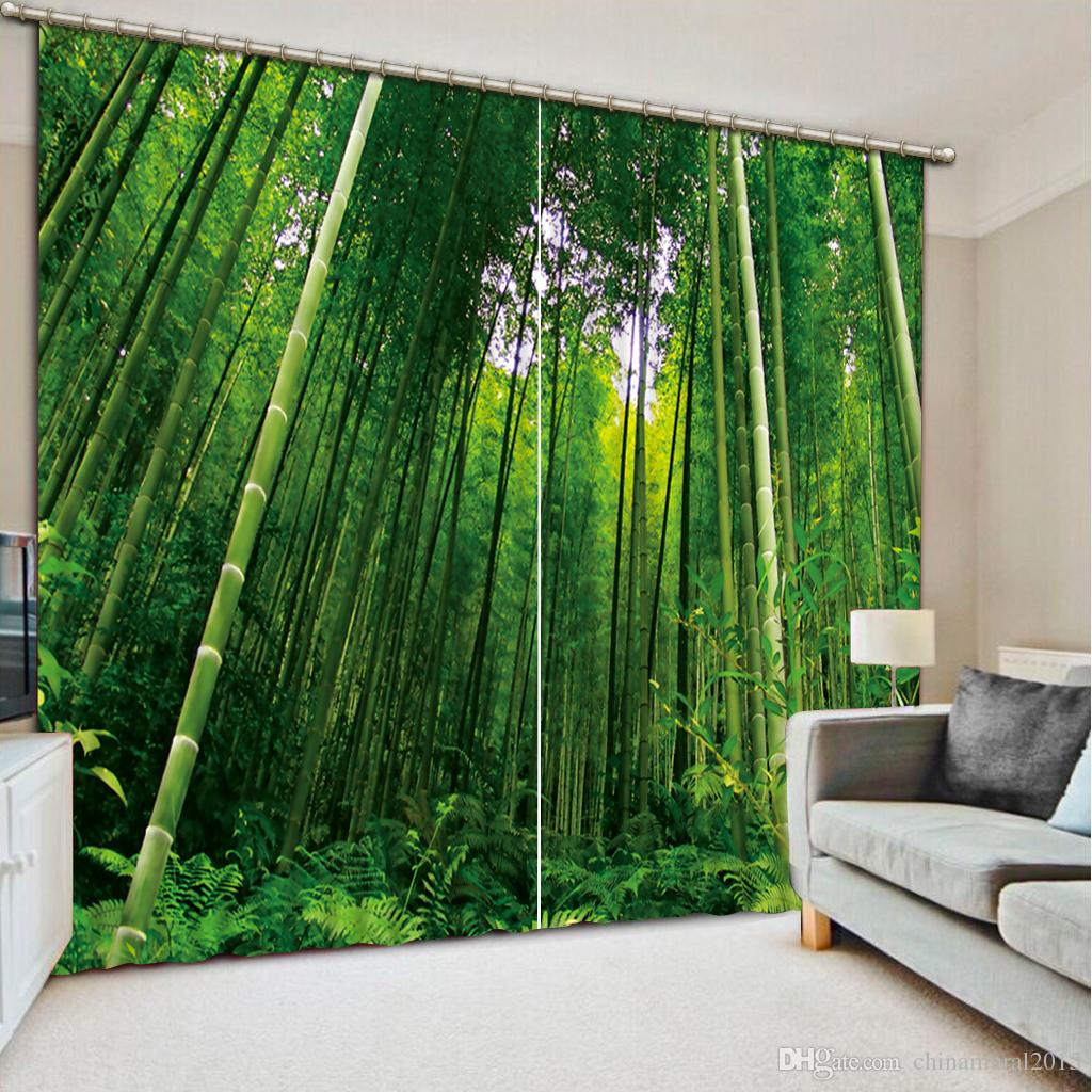 2019 Custom 3D Window Curtains Blackout Curtains For Living Room Bedroom  Photo Printing Bamboo Drapes Curtain From Chinamural2015, $137.69 | ...