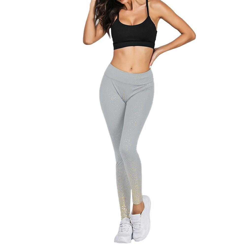 Stamping Yoga Hosen Goldene Hohe Taille Sport Leggings für Fitness frauen Push Up Gym Strumpfhosen Mallas Mujer Deportivas Leggins A23