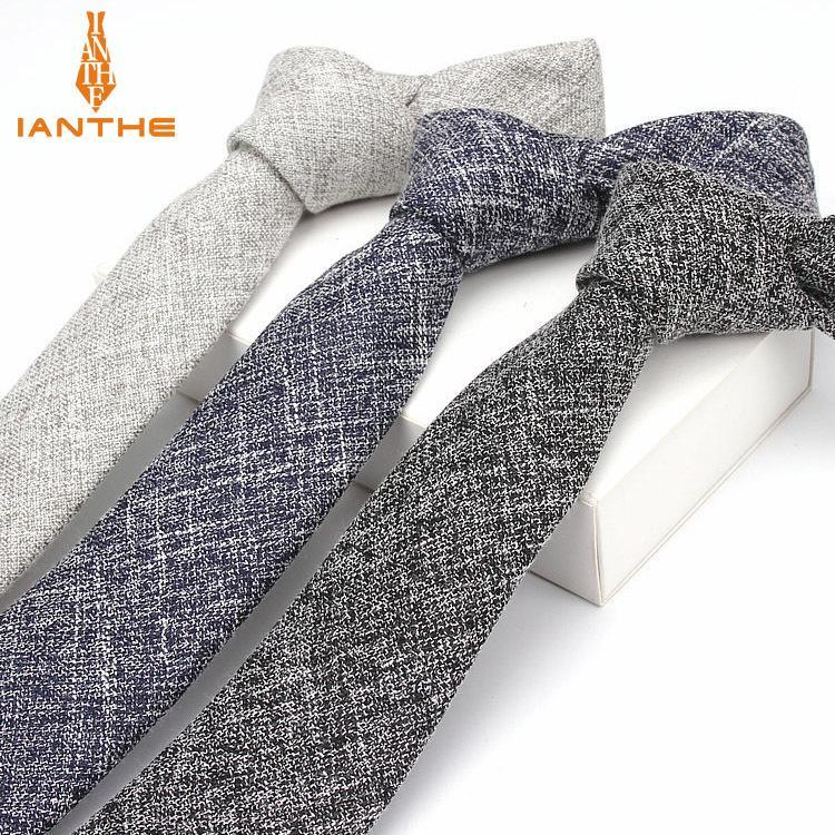 Clássico Vintage Moda da marca New Men contínuo liso do casamento gravata personalizada para o homem Formal Negócios gravata Gravatas Gravatas seis centímetros T200805