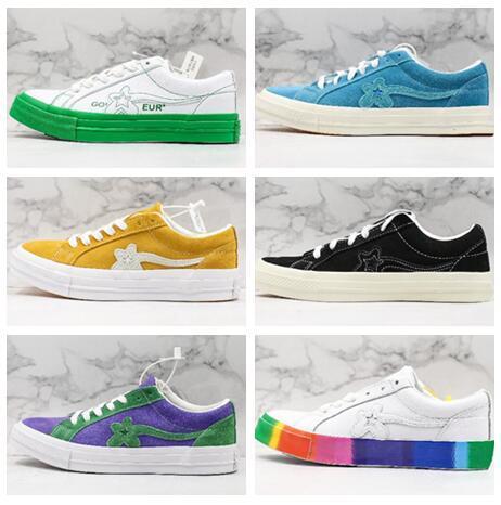 Лучший дешевый 2020 Golf Le Fleur х Chuck 70 Hi'Blue кроссовки дамы кроссовок официальной обувь для мужчин, женщин лучшего спортивных кроссовок Обучения