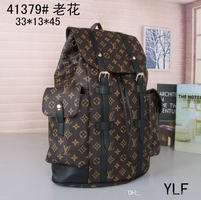 hombres de la alta calidad de la mochila del bolso de Duffle diseñadores de moda bolsas mochila unisex bolso al aire libre flor amarilla 41379 envío libre