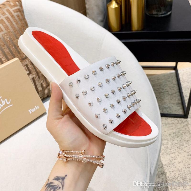 Neue Männer Pool Fun Wohnung Luxus-Designer-Schuhe Herrenschuhe Sandalen Top-Qualität Größe 39-44 mit dem Kasten