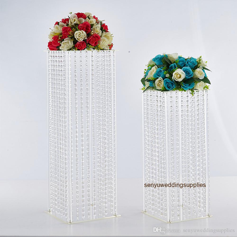 New style Table Flower Rack Luxury Acrylic Crystal Wedding Road Lead Luxury Centerpieces For Event Party Home Decoration senyu0390