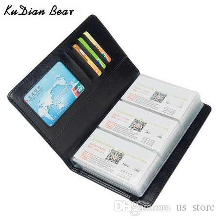 KUDIAN BEAR 120 بطاقات حامل بطاقة الأعمال المحفظة غطاء بطاقة الائتمان حقائب السفر بطاقة منظم حقائب بورت كارت BIH098 PM49