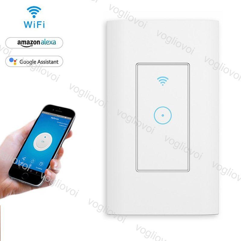 Controle WIFI LED toque interruptor Switch Inteligente de Controle LED Toque Wall Wireless Switch sincronismo função de trabalho com Alexa Googel Início EPACKET