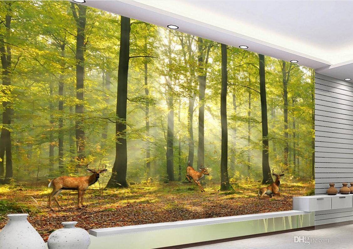 WDBH 3d wallpaper custom photo on the wall Norwegian Forest Elk background living room home decor 3d wall muals wall paper for walls 3 d