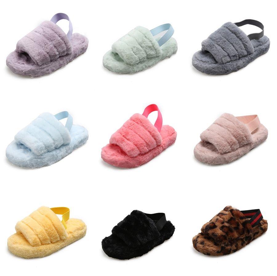 Enfants Casual Slippers Beach Girls Chaussures 2020 New Fashion strass souple non-dérapant Fille Tout-petits enfants'S Chaussures plates # 552