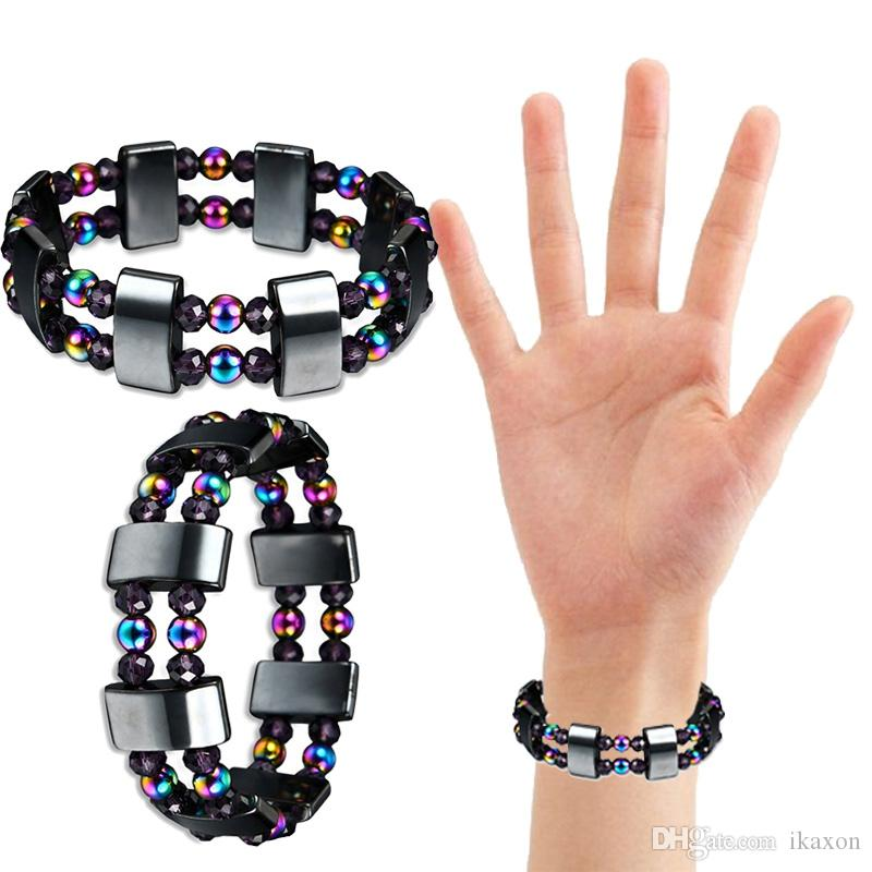 Fashion Magnetic Therapy Multicolor Stone Bracelet Women Men Stretch Weight Loss Slimming Bracelet Fashion Jewelry Accessories