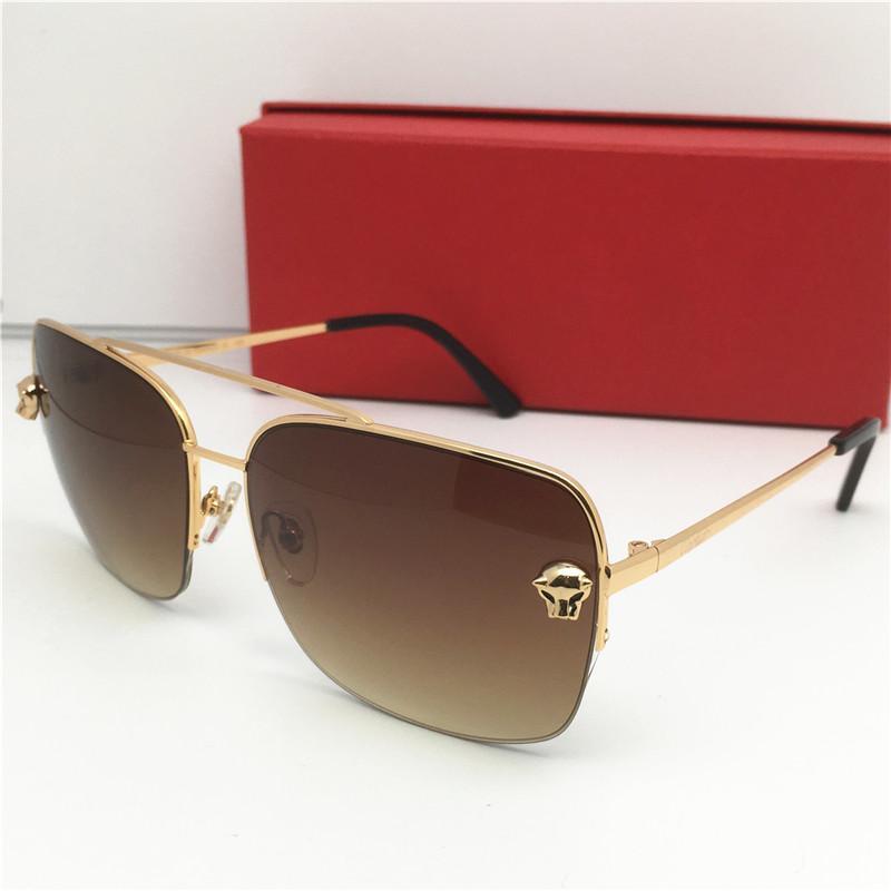 مصمم أزياء العلامة التجارية الفاخرة معدن نظارات شمس رجل إمرأة كلاسيكي نظارات الشمس موقف نظارات شمس ذهبية مربع أعلى في الهواء الطلق جودة النظارات الشمسية