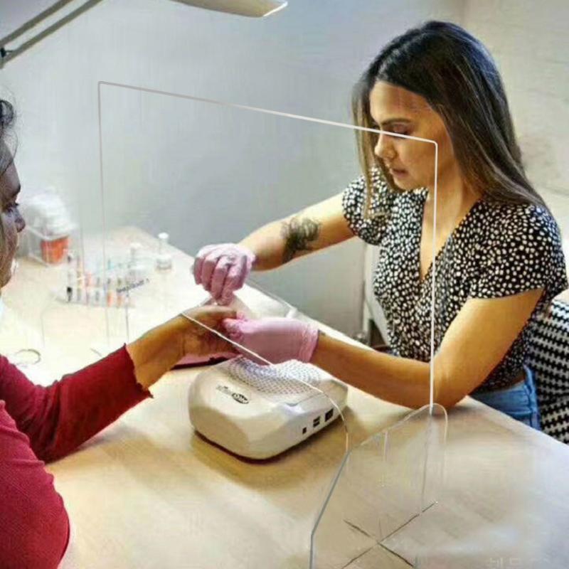 Acrylique Sneeze Guard Clear Shield Perfection Réception Vente latérale contre Sprayed UV Cut Transparent Hauteur Protection Screens25