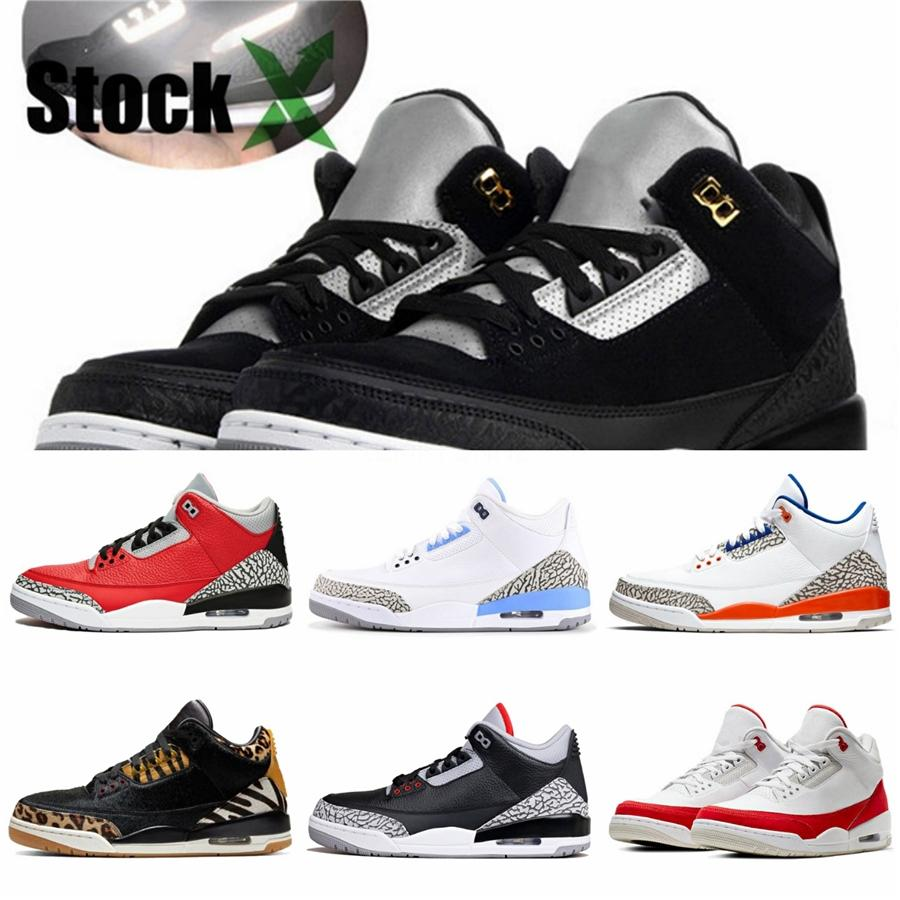 2020 Shoes New Bred Jumpman 3 3S Iv What The Cactus Asas Jack Laser Basquetebol Blue Jeans s Sports Designer Sneakers 28-35 # 833