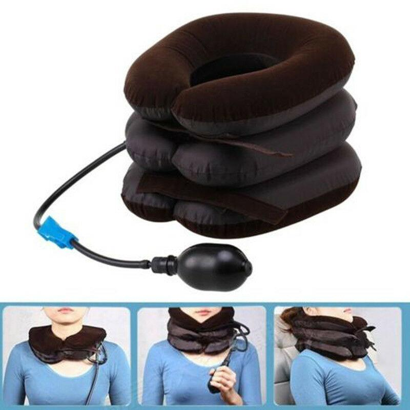 New Fashion Air Inflatable Pillow Cervical Neck Head Traction Soft Brace Device Unit Set Kit