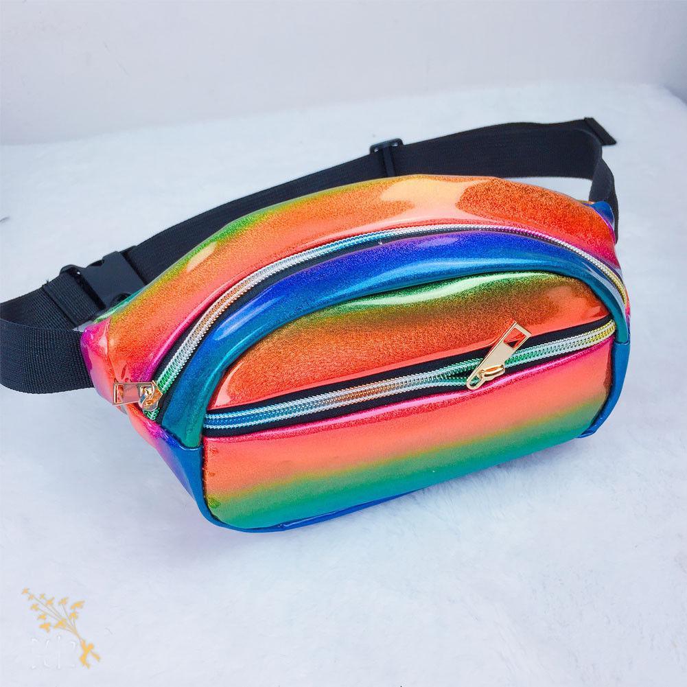 Mode Nouveau étanche Laser sac banane hanche Sac de taille Ceinture Pouch femmes Laser sac de taille
