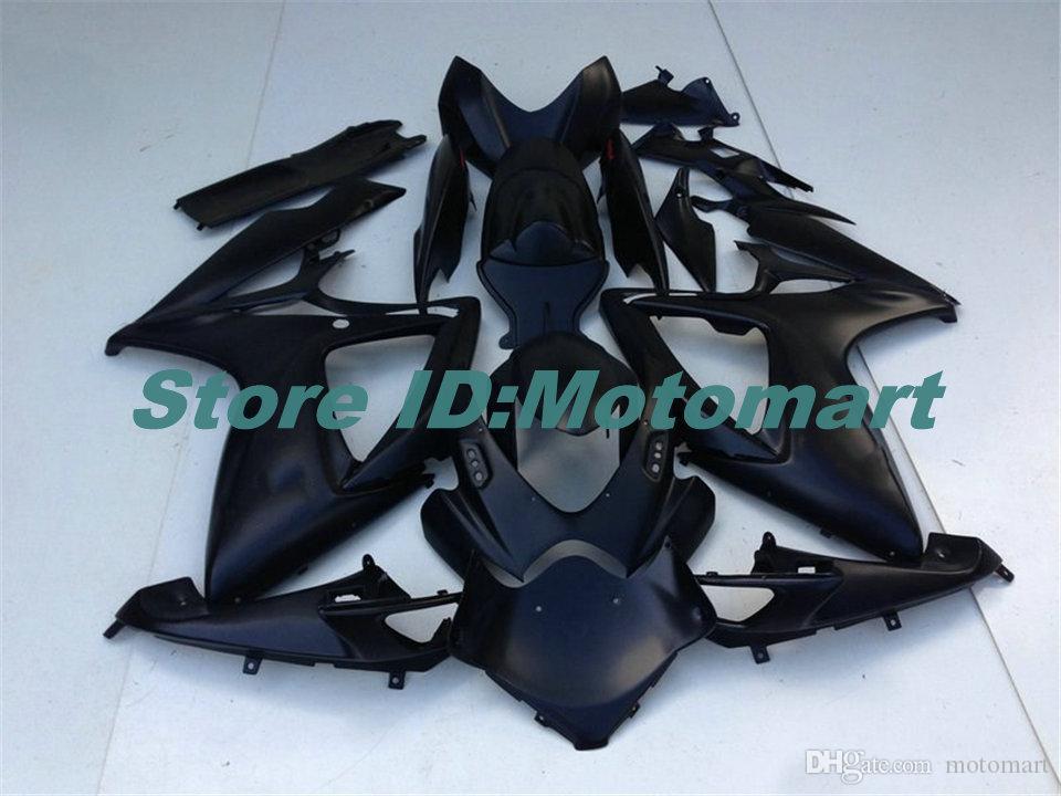 Set ABS carenatura per SUZUKI GSXR600 750 2006 2007 GSXR 600 GSXR 750 K6 06 07 nera Fariring gs Kit + 7 doni SP185