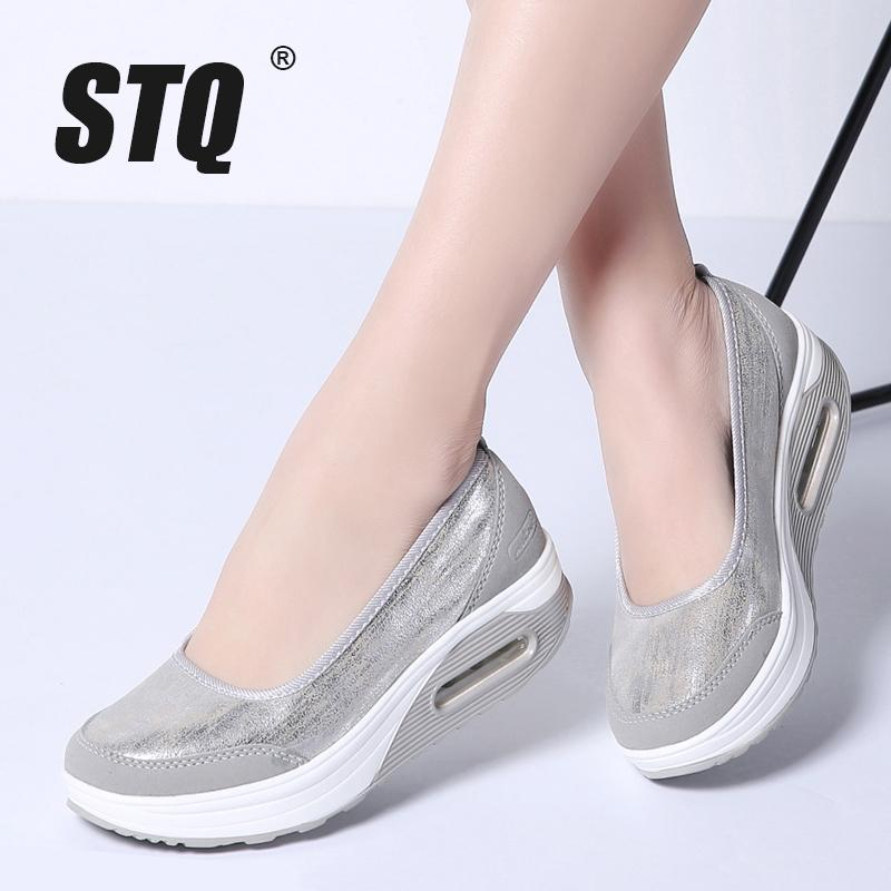 Ayakkabı 9001 CY200519 On STQ 2020 Sonbahar Kadın Düz Platformu Ayakkabı Kadınlar Nefes Mesh Casual Sneakers Ayakkabı Bayanlar Kalın Sole Topuk Kayma