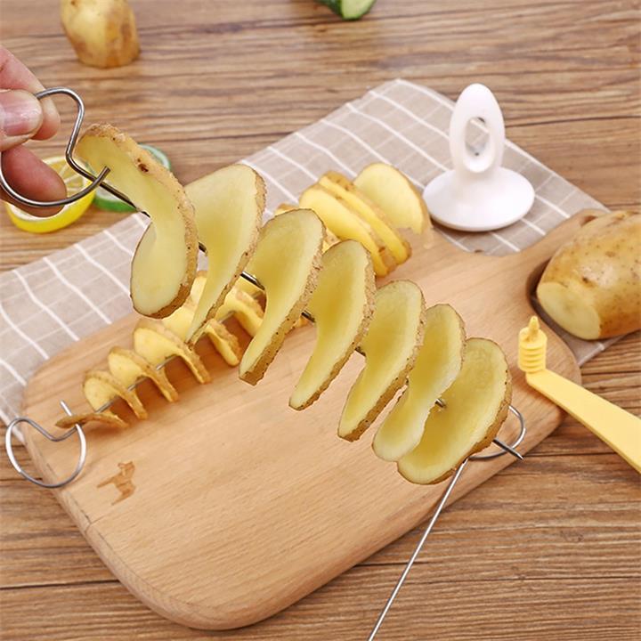Tornado a spirale della patata taglierina String Ruota Potato Chips Torre affettatrice manuale fai da te a spirale della patata affettatrice cetriolo Carota Chips Maker