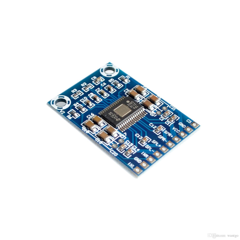 10 PÇS / LOTE DC 12 V-24 V 2x50 W Dual Channel Mini Amplificador Digital Classe D 50 W + 50 W Amplificador de Potência 50 W TPA3116D2 XH-M562 Amplificador freeshipping