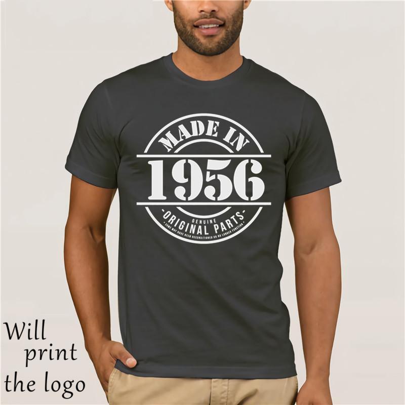 1956 Erkek Komik T Gömlek Made In - Doğum Hediye Him Baba büyükbaba Babalar Günü% 100 Pamuk Yepyeni Tişörtler En Tee
