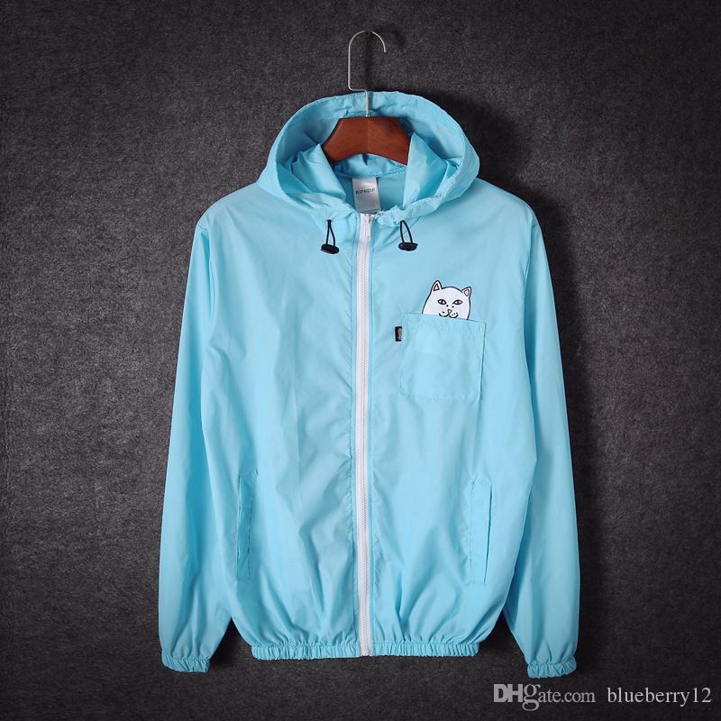 Moda Homens Mulheres Esportes Hoodies THIN windrunner Causal Com Capuz Marca Ao Ar Livre Roupas Hip Hop Blusão Zipper Esporte casaco de roupas