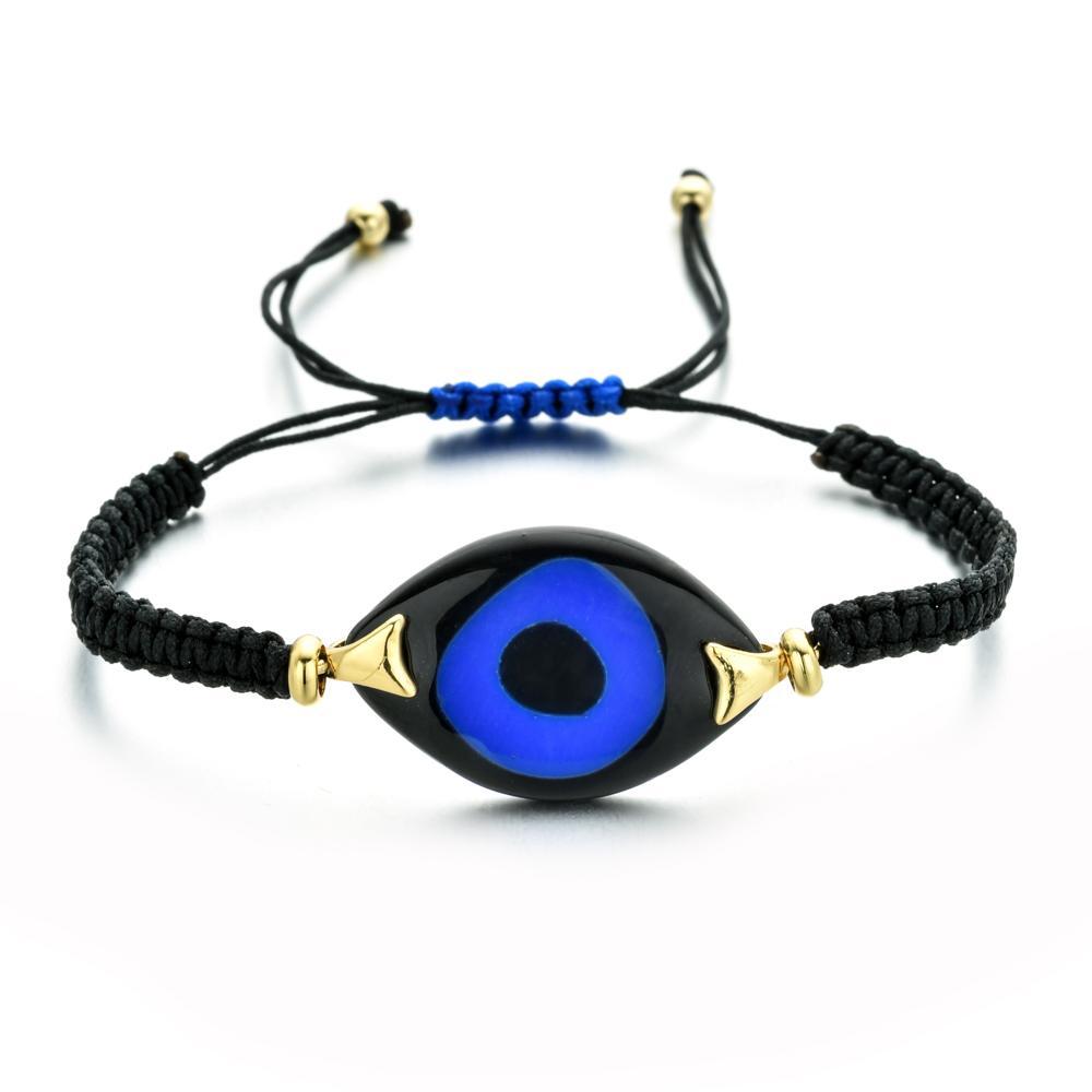 ZMZY Big Boho hommes bleus Bracelet mal des yeux Charm Bracelets pour les femmes de Bohême Pulseras Bransoletki Damskie Bijoux cadeau
