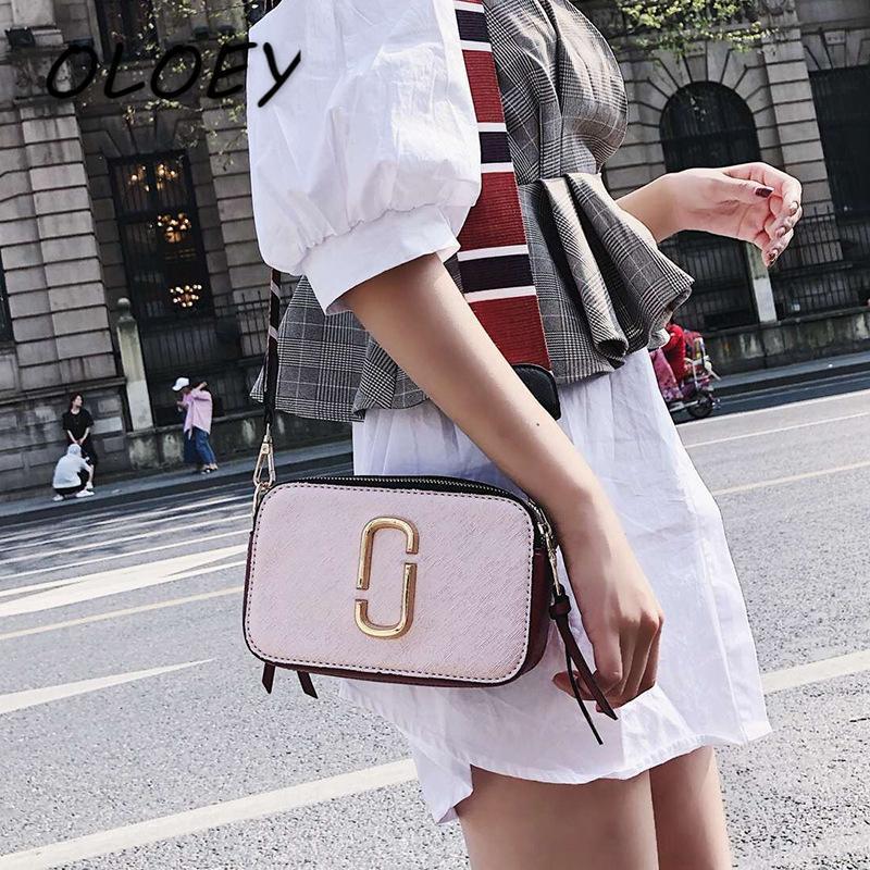 Pu Deri Messenger Çanta Omuz Çantası Çanta Moda Kadınlar Çanta Basit Crossbody Çanta Fermuar Kadınlar Çanta #