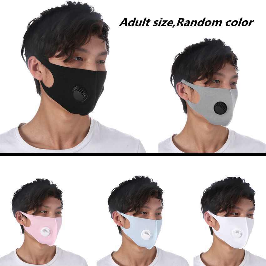 Adulti antipolvere viso maschera respiratoria Valve mascherina mascherine anti-polvere riutilizzabile Haze PM2.5 Ice seta cotone ZZA1871