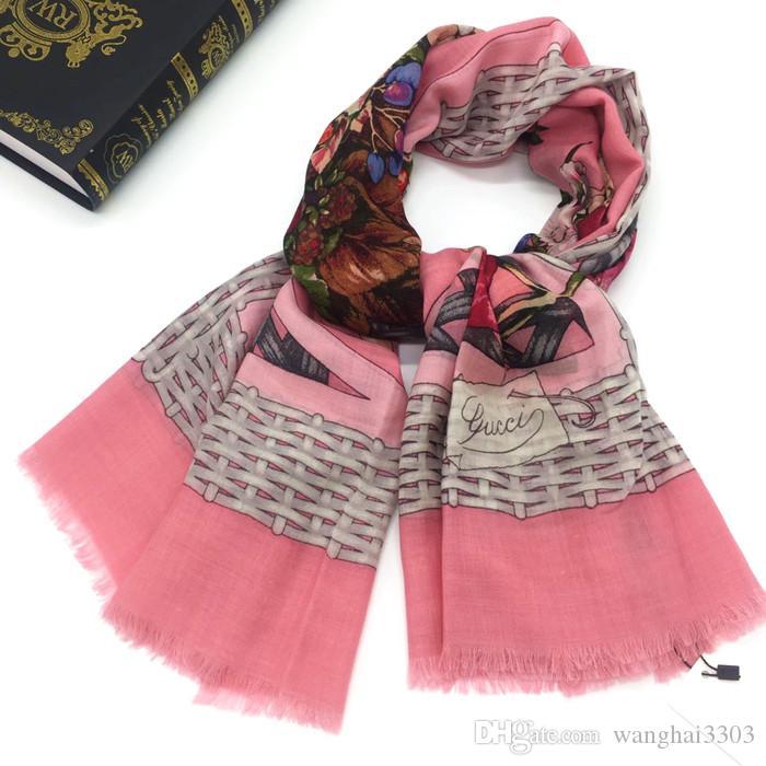 100/% Wool Scarf Pashmina Scarves Long Grey Wrap Shawl New Women Beautiful Soft