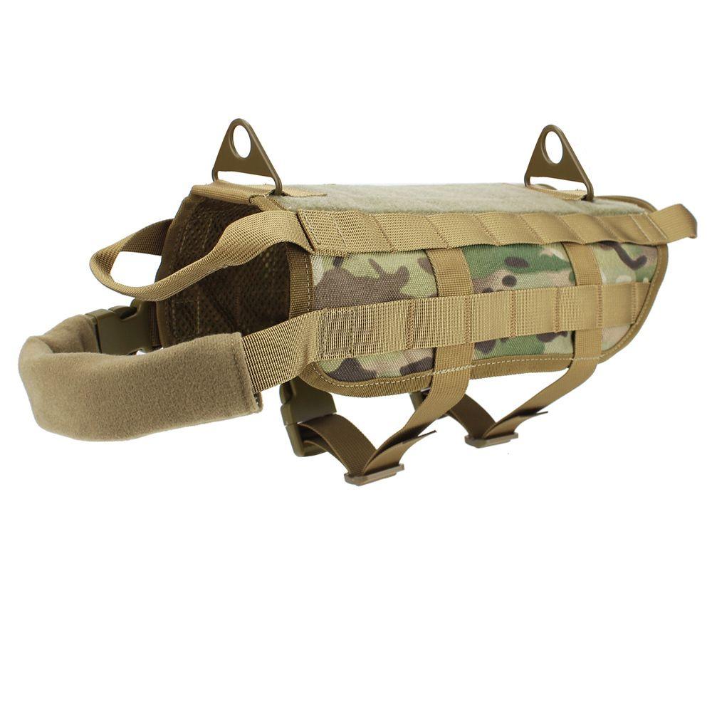 Tactical Dog Vest Harness Outdoor Handle Training Pets Service Dog Vest Nylon hunting Harness