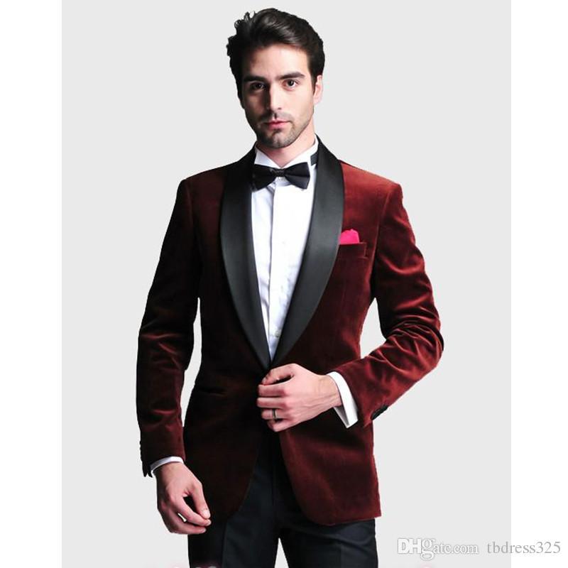 Custom Made Men/'s Velvet Wedding Groomsman Best Man Groom Tuxedos Party Suits