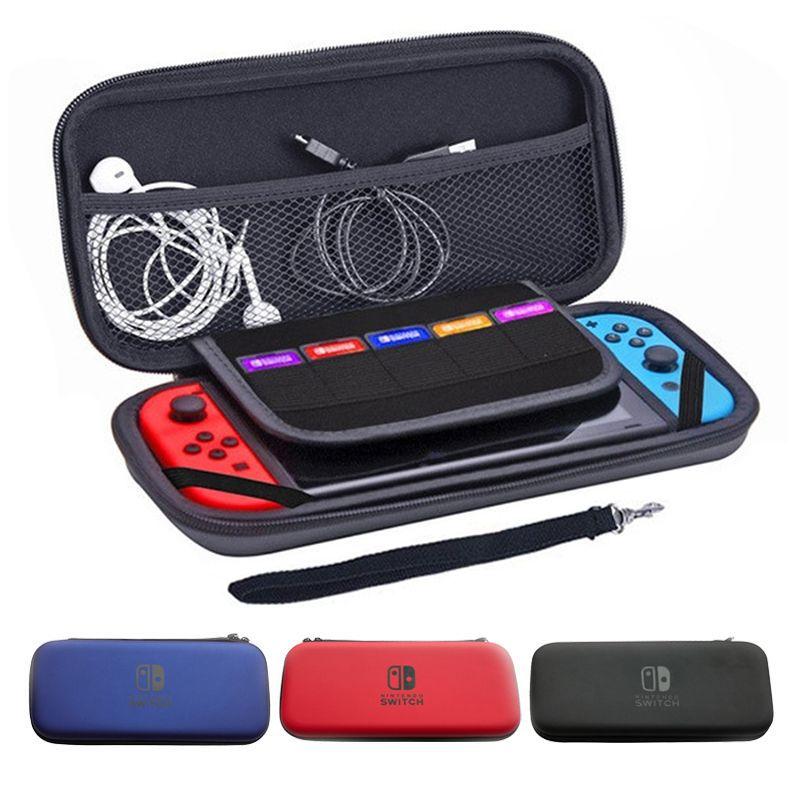 للحصول على نينتندو التبديل NS NX حالة وحدة التحكم المعمرة لعبة بطاقة التخزين حقيبة حقيبة حمل الصلبة EVA حقيبة قذيفة المحمولة حمل الحقيبة حقيبة واقية