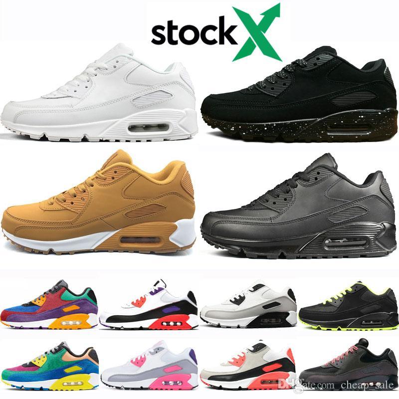 Reino Unido ahorrar completo en especificaciones Compre Nike Air Max 90 Amarillo Negro Blanco Rojo Para Hombre ...