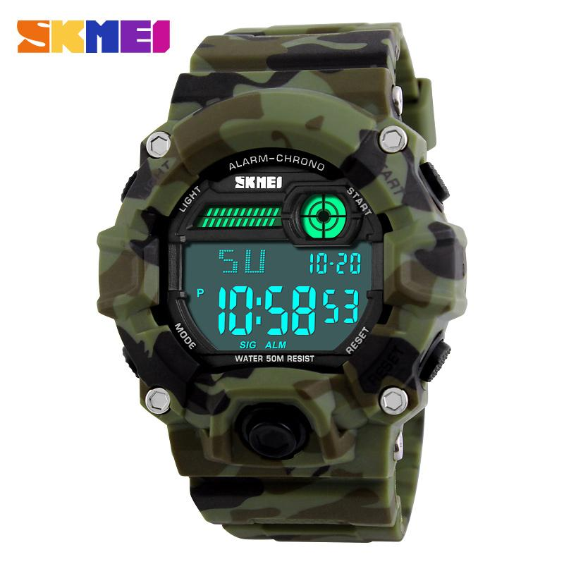 SKMEI 1197 Herren Sport Digitaluhr Outdoor Militray Army Watches Wasserdicht Wecker Chronograph Armbanduhren