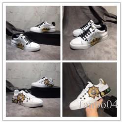 Nouveautés hommes cuir blanc imprimé mots baskets basses haut, appartements de marque de concepteur chaussures de cause à effet de la mode 38-44 de m0148 livraison gratuite