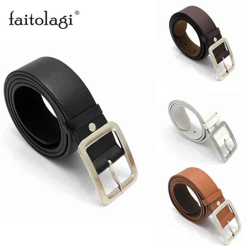 Casual cinturones de cuero de la PU para los hombres de la hebilla de correa de la cintura Cinturones de Harajuku femenina del punk Blet cinturones para hombre cintura donna
