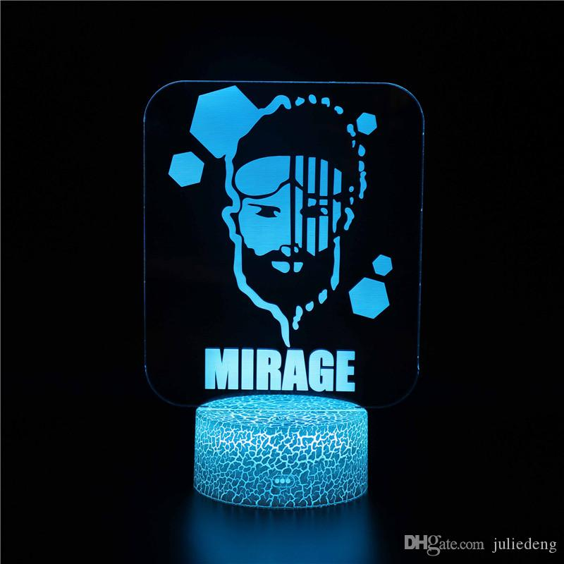 Red Dead Redemption 3D LED Night Light APEX MIRAGE Night Light Collection 3D Magic Color Changing Children Gifts