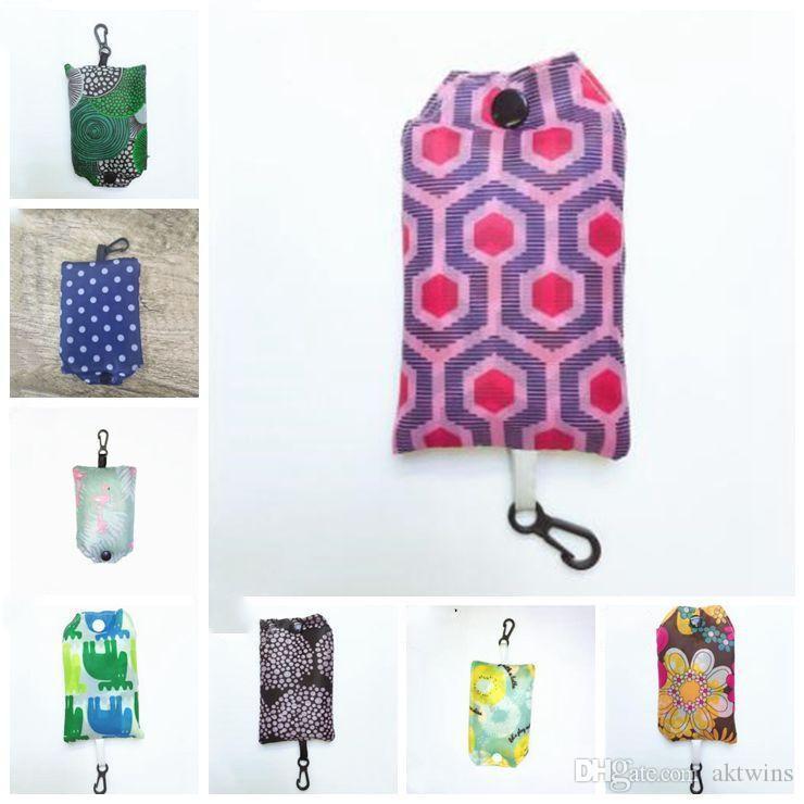 Pochette réutilisable réutilisable sac ordinaire pliable pliable sacs à provisions pour femme Hommes éco stockage étanche convivial Couleurs LXL1028-1 TNKWO