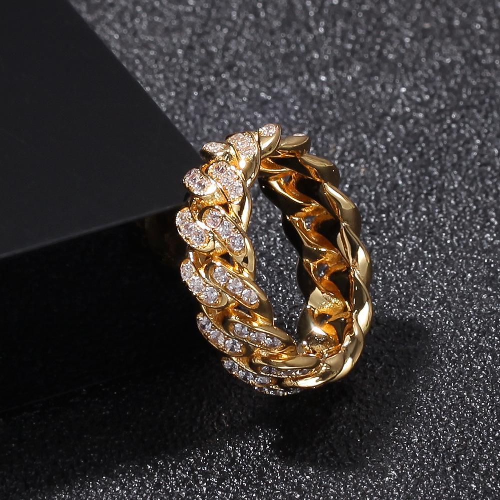 Anelli di gioielli da uomo hip hop anelli di nozze di fidanzamento set uomo amore anello diamante lusso ghiacciato