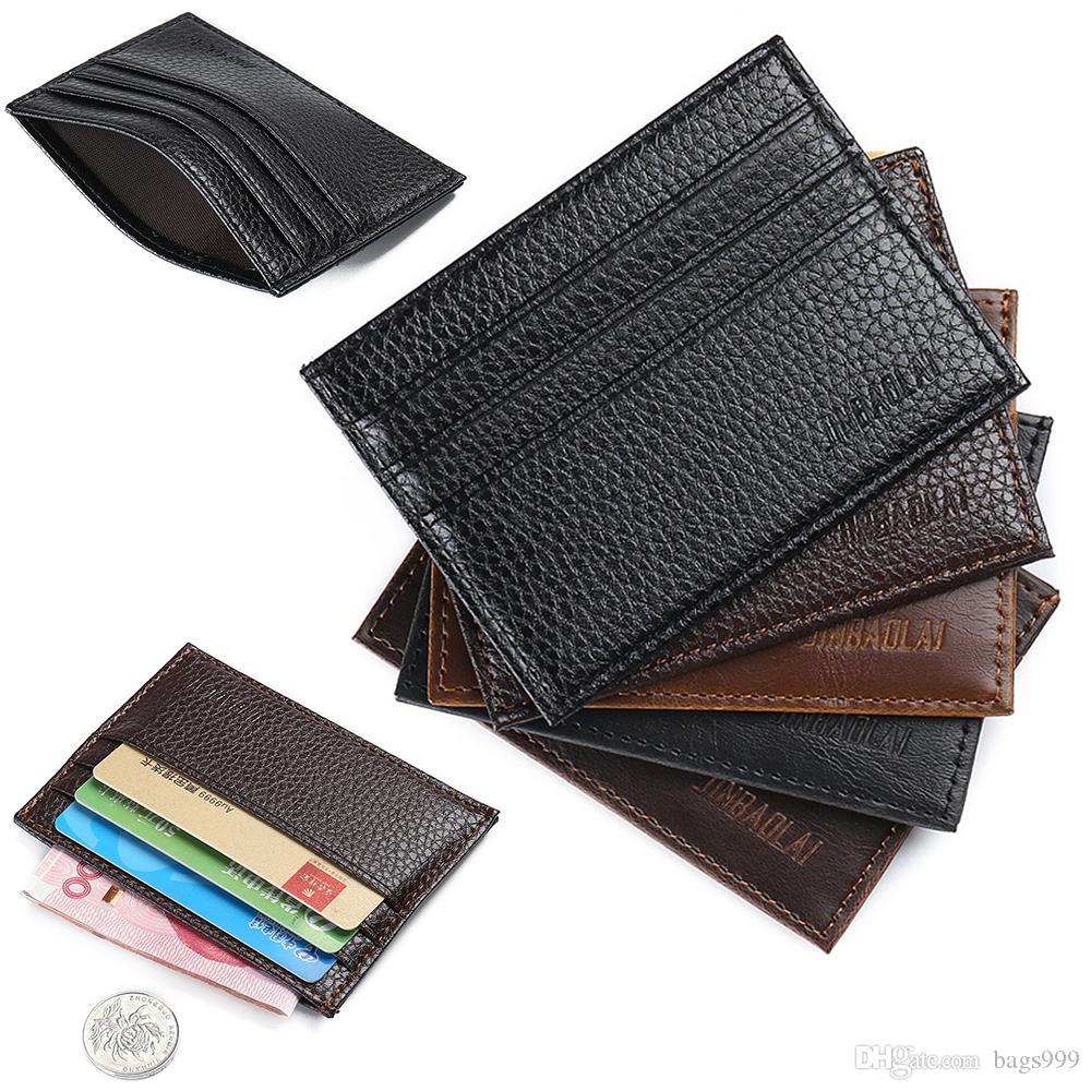 Men Leather Long Purse for Men Credit Card Holder Money Cash Bag Wallet Gift