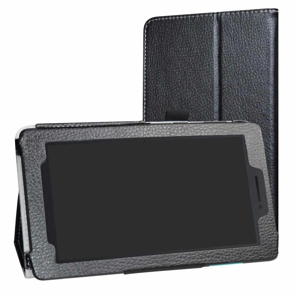 """Tablets e-Books Caso Folding Folio capa para 7,0 \"""" Lenovo TAB E7 7 polegadas 2018 Tablet suporte dobrável tampa do couro PU com"""