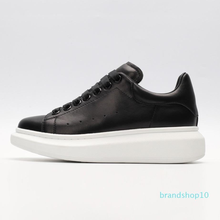 2020 ACE Cheap Black white red Fashion Designer Women Shoes Gold Low Cut Leather Flat designers men womens Casual sneakers 36-44 01