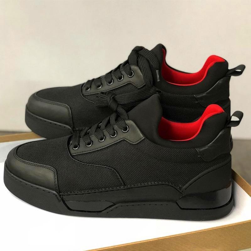 Yeni tasarımcı Sneakers Dikenler Aurelien düz Eğitmen Kırmızı Alt erkek ayakkabı siyah Aurelien Sneakers Casual Açık Trainer Mükemmel Kalite